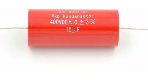 Capacitor Polipropileno 15µf 400 V Cp 56,5mm Dm 25,7mm