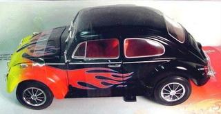 Mini Volkswagen Vw Fusca 1963 Johnny Lightning 1:18 Custom