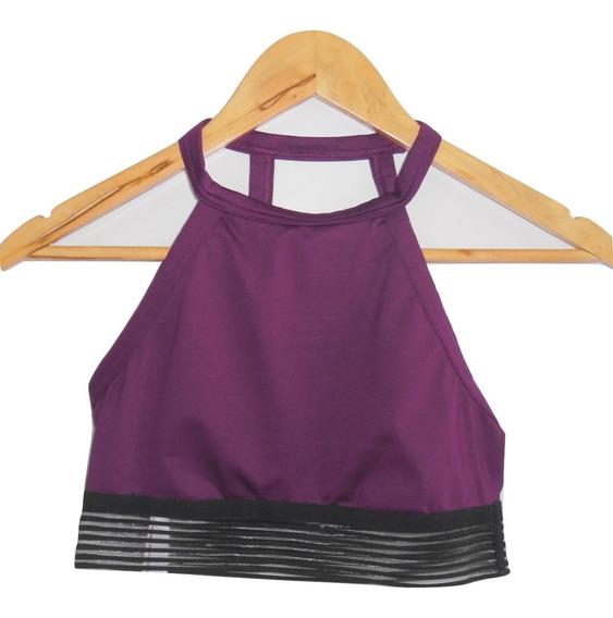 Victorias Secret Yoga Bra Top Deportivo Uva S (32-34b)