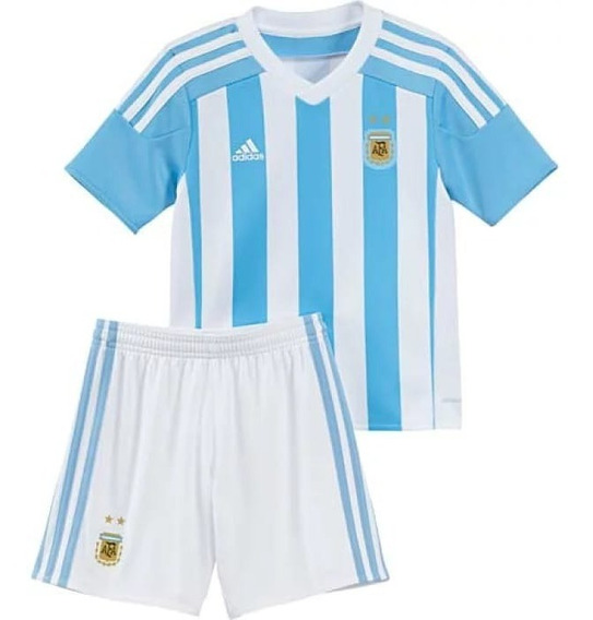 Conjunto De Argentina Titular Niño Oficial+pelota De Regalo