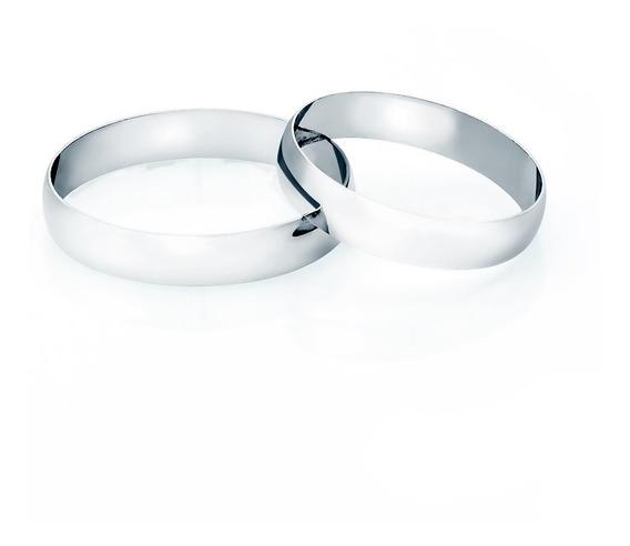 Aliança De Casamento De Ouro Branco 18k 3,5mm Masculina Ta35