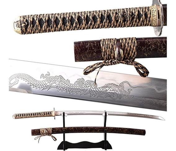 Katana Hecha A Mano Espada Samurái Real De Japon Acero