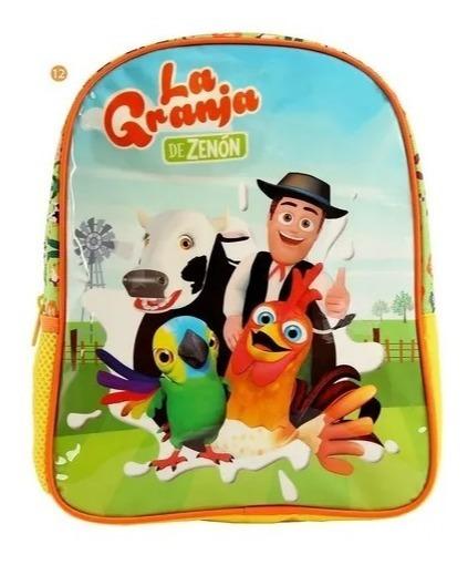 Mochila La Granja De Zenon Escolar Infantil Jardin 23076