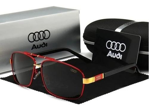 Óculos De Sol Audi Red Lentes Polarizadas Proteção Uv400