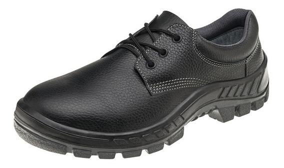 50s29 Bp Calçado De Segurança Sapato Couro Legítimo Confort