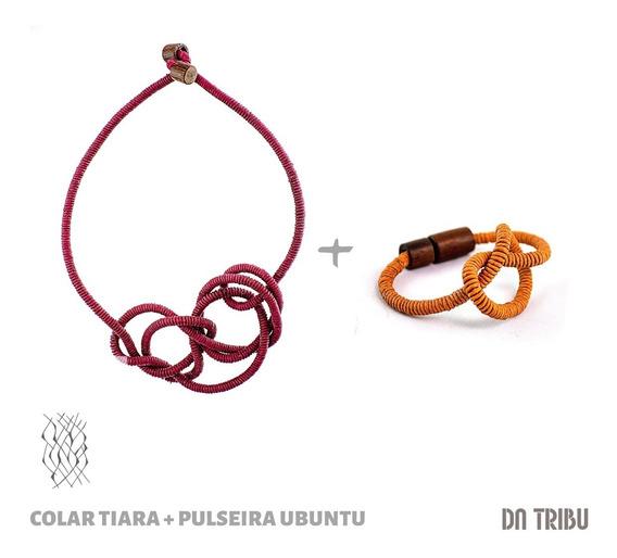 Kit Colar + Pulseira Ubuntu Feminino - Da Tribu   Biojoia