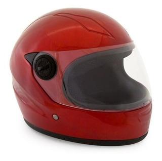 Casco Para Motocicleta Infantil Color Rojo Virtue