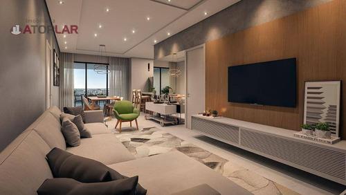 Apartamento Com 1 Suíte + 2 Dormitórios À Venda, 108 M² Por R$ 520.000 - Centro - Navegantes/sc - Ap2024