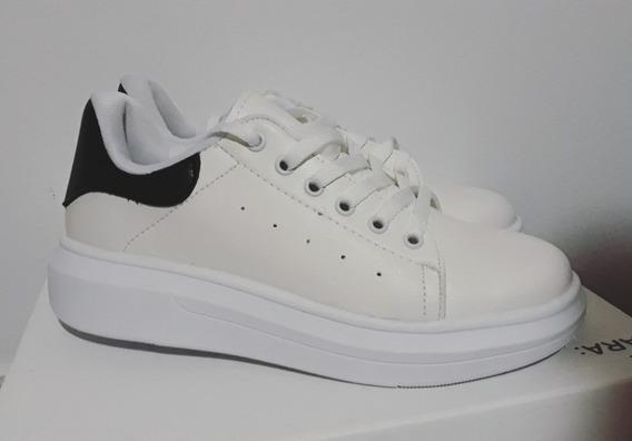 Zapatillas Blanca Sneakers Urbanas Moda Plataforma