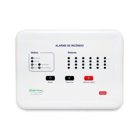 Central Alarme Incêndio 12v - 24 Setores Segurimax C/ Bater