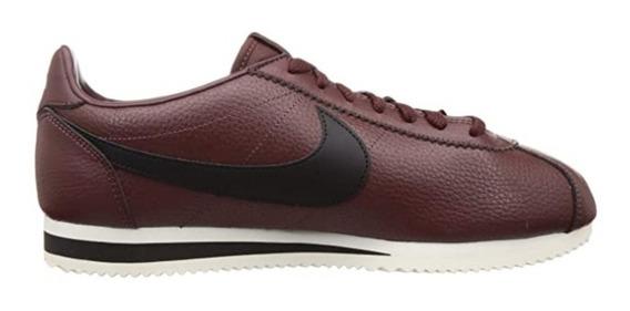 Tênis Casual De Couro Cortez Classic Leather Marrom Original