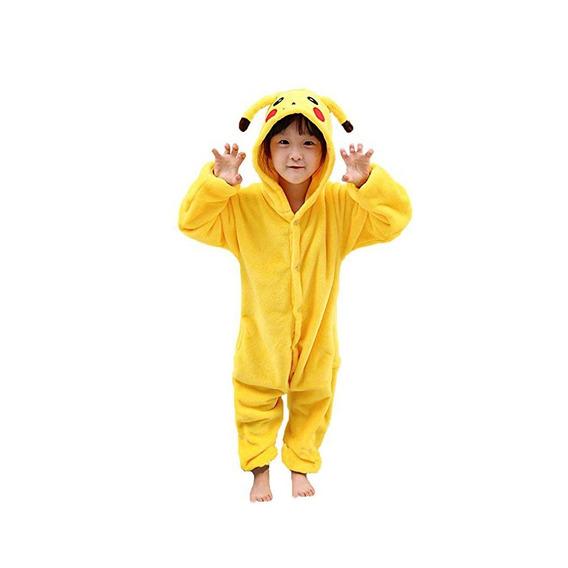 Pijama Pikachu Niños Polar Pokemon Disfraz Enterito Kigurumi