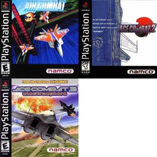 Ps1 Patch Promoção Coleção 3 Jogos Ace Combat