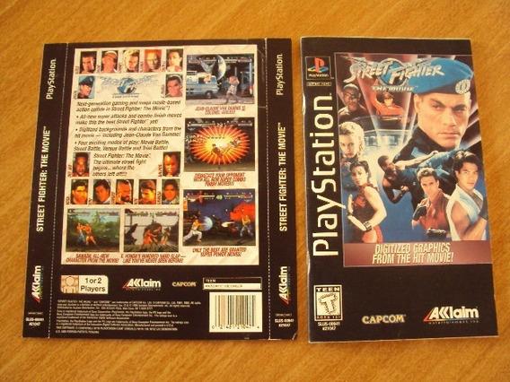 Encarte E Manual Do Street Fighter The Movie Do Playstation1