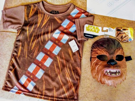Máscara Y Playera / Chewbacca-niño ¡envío Incluído!