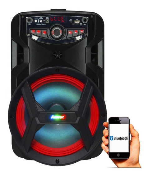 Caixa De Som Amplificada Bluetooth 1800w Amvox Aca 185 New X