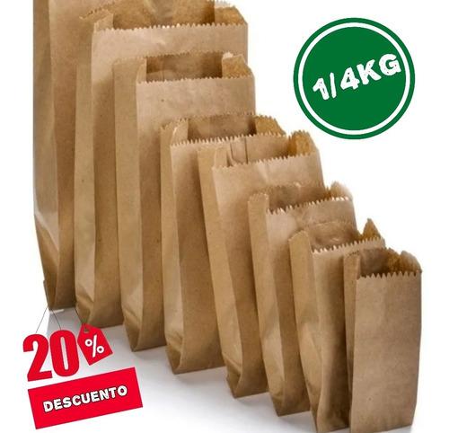 Bolsas De Papel 1/4 Kg Pack De 500 Bolsas Para  Ofertaa*****
