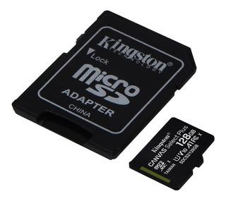Memoria Micro Sd Kingston 128 Gb Clase 10 80 Mb/s