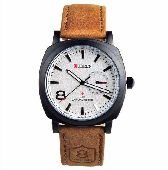 Relógio Masculino Curren Analógico Branco M:8139