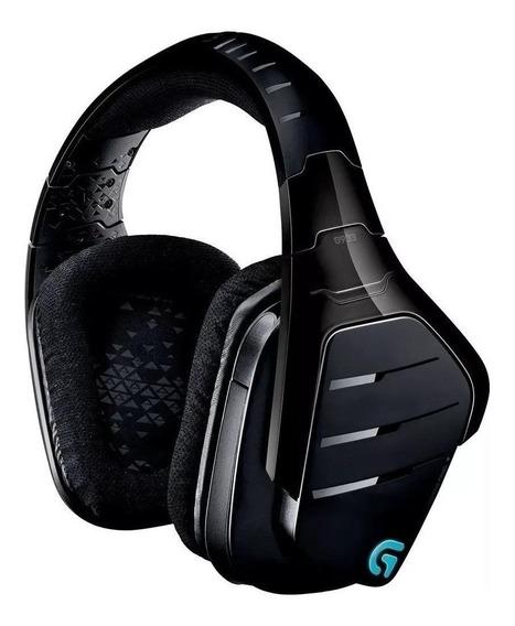 Fone de ouvido gamer sem fio Logitech G933 preto