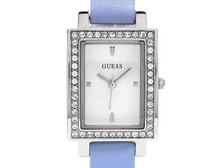 Pedrería Dama Piel Reloj Guess Azul 0O8PnwkX