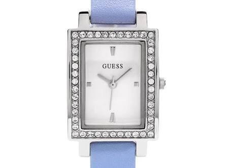 Reloj Azul Pedrería Dama Guess Piel 0mNw8n