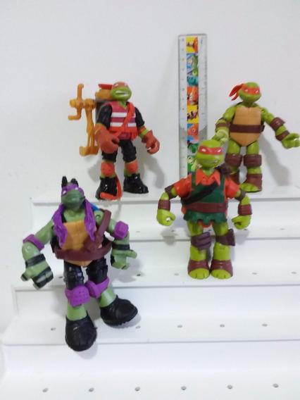 Miniatura Os Tartarugas Ninjas Disney Importado Articulado