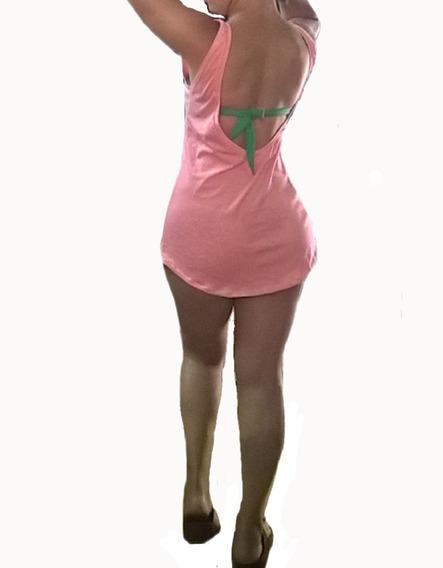 Remera Vestido Remeron Escote Largo Espalda Hasta Xl