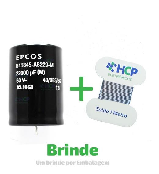 Capacitor Eletrolítico 22000uf 63v 22.000uf Epcos Promoção