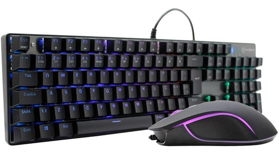 Kit Gamer Teclado Mecânico Outemu Blue E Mouse 2400 Dp Husky