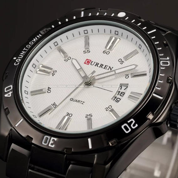 Relógio Pulso Masculino Curren Res. Água Mod 8110 Aço Inox