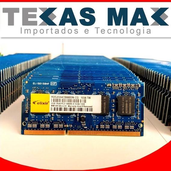 Memórias Notebook 2gb Pc3 Ddr3 1333mhz/10600 Smart/elixir