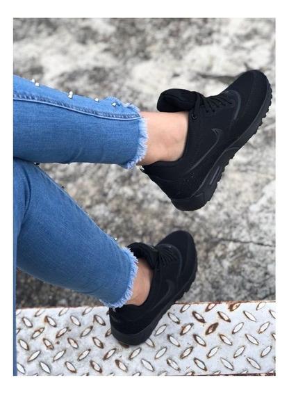 Zapatos Tenis Nike Airmax Thea Negro Dama Gym + Envio Gratis