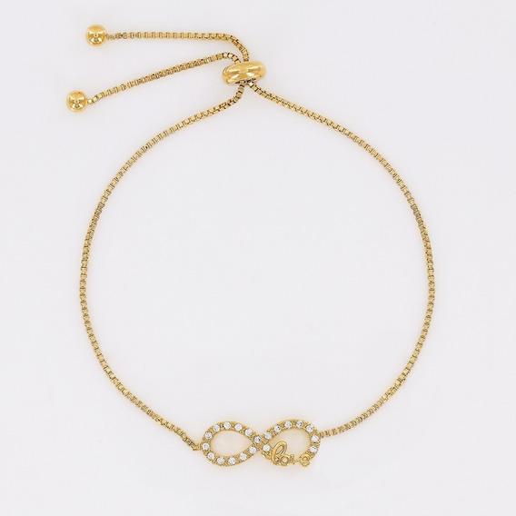 Morana | Pulseira Dourada Amor Infinito Banho Em Ouro