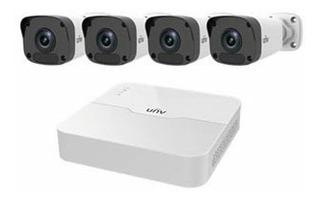 Kit Video Vigilancia Uniview Ip, Full Hd 2mpx, 4cam-4ch/poe