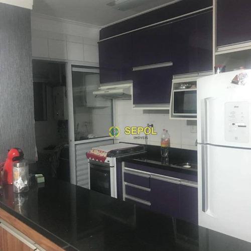 Apartamento Com 3 Dormitórios À Venda, 62 M² Por R$ 298.000,00 - Jardim Nove De Julho - São Paulo/sp - Ap1061