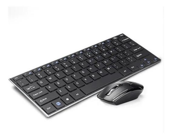 Kit Teclado Y Mouse Usb Inalambrico Slim Pc Laptop Tablet