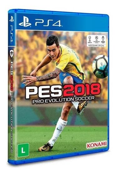 Jogo Ps4 Pro Evolution Soccer 2018, Lacrado, Português