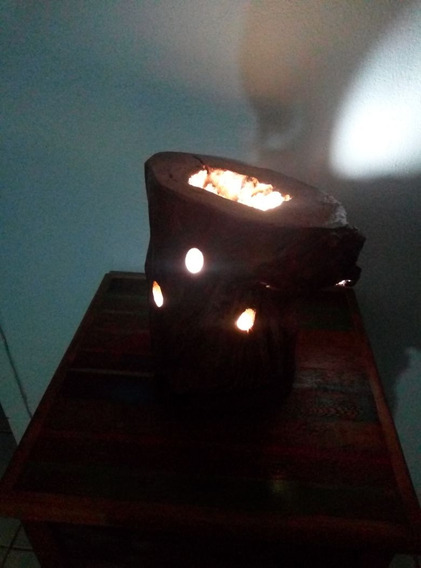Luminaria De Tronco Rustico