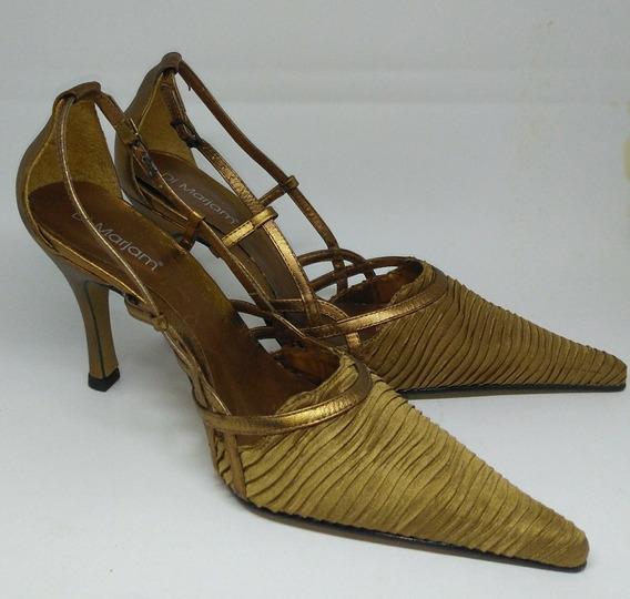 Sapato De Salto Alto Dourado 38 Di Marjam