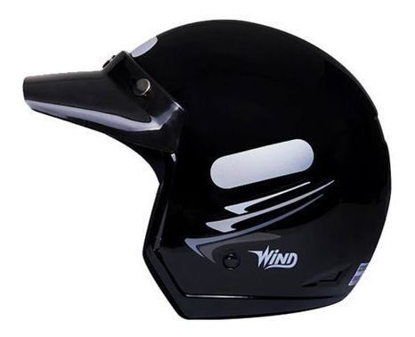 Capacete Taurus Wind Speed Lines Preto Fosco Tamanho 58