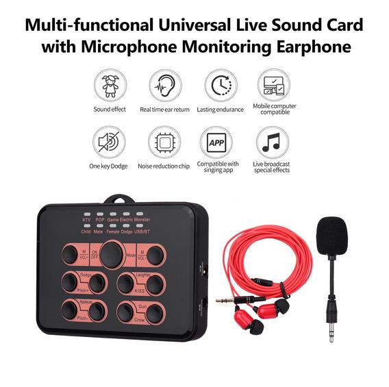 Multifuncional Universal Live Card Card Voice Changer 8