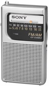 Sony Icfs10mk2 Pocket Amfm Radio Silver
