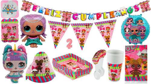 Kit Decoración Fiesta Infantil Lol Surprise 12 Invitados