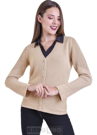 Cárdigan Escote V Mujer Con Botones Saco Sweater Kierouno