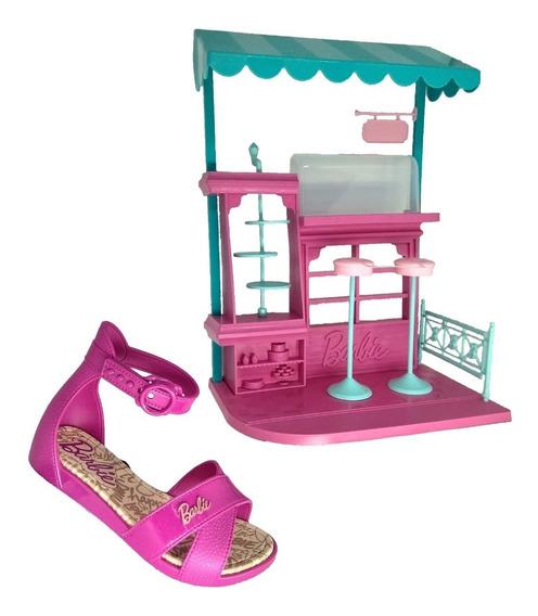 Sandalia Infantil Feminina Barbie Confeitaria 21921 33% Off