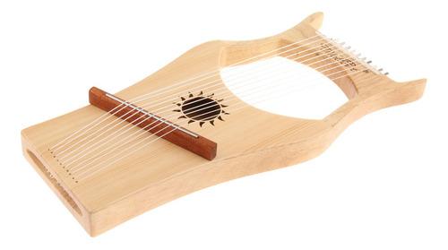 10 Cuerdas Arpa Lira Harfe Con Llave De Afinación, Bolsa De