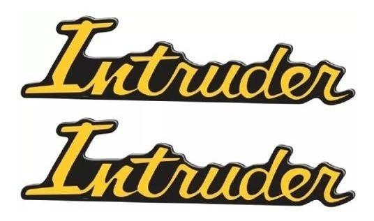 Adesivo Tampa Lateral Intruder Dourado Original Suzuki