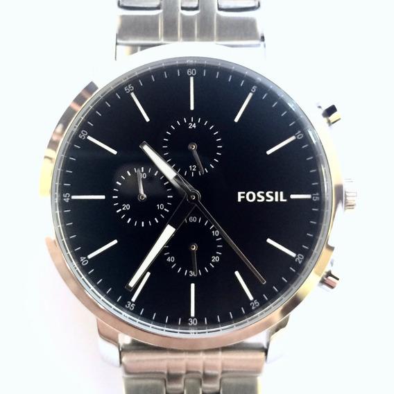 Relógio Fossil Prateado Bq2328ie Analógico Original Usa
