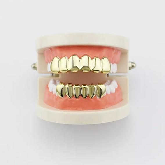 Grillz Dourado Banhado A Ouro - 12teeth - Envio Imediato